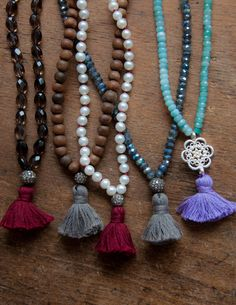 Tassels tassels tassels. How we love our tassels necklaces!