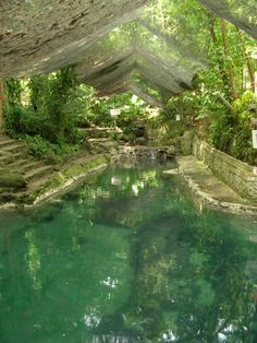Ardent Hot Spring on Camiguin Island, Philippines. The water, which comes from Mount Hibok-Hibok (a stratovolcano)