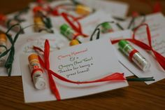 "Need a Christmas gift idea for your customers? How about this card, attach one of Avon's chapsticks and change the note to read ""Merry Kissmas & a Chappy New Year! Thanks for being a great customer"" (Idea and photo from www.twocuteblondies.blogspot.com)"