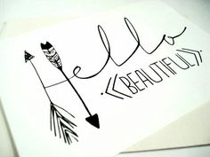 Hello Beautiful Card- idea to make Hello Beautiful, Beautiful Friend, Karten Diy, Tips & Tricks, Cards For Friends, Chalkboard Art, Diy Cards, Word Art, Artsy Fartsy