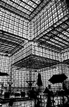 """s-h-e-e-r: """" Mr. & Ms. Architectural Silhouette Enjoy Lunch with I.M. Pei by Timothy Schenck on Flickr. """""""
