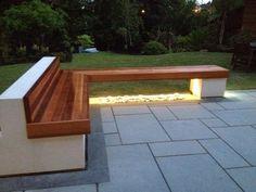 Evening shot of a Western Red Cedar bench, by Ryan Monaghan (wearemonaghan.co.uk)