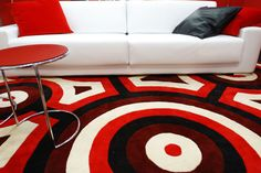 pop-art carpet powered interior! nice!