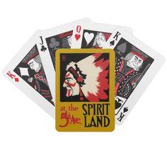 Native American Indian Design Tribal Spirit Land Poker Deck