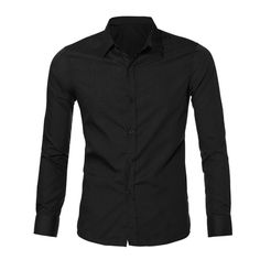 SIF 2016  Mens Luxury Stylish Casual Dress Slim Fit Blouse Casual Long Sleeve Blouses for Men MAR 21