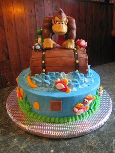 Donkey Kong And Super Mario My Son Loves  cakepins.com