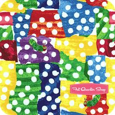 The Very Hungry Caterpillar Multi Adventure Land Yardage SKU# 5283-M - Fat Quarter Shop