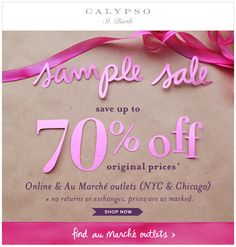 Calypso : Sale Event
