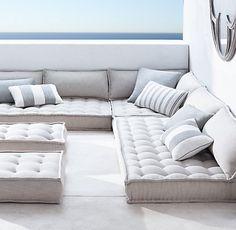 Tufted French Floor Cushions | RH  www.restorationhardware.com