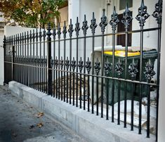 wrought iron fence posts - Google Search