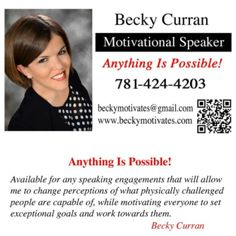 179 best becky motivates images on pinterest interview business card available for any speaking engagements around the world anythingispossible colourmoves