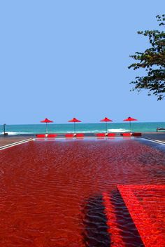 THE LIBRARY, Koh Samui, 2007 #hotel #design #swimmingpool #red
