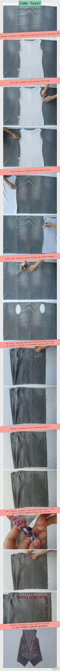 DIY Colete boho | DIY Boho Vest | http://cademeuchapeu.com
