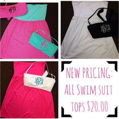 Swimsuit season is just around the corner! These bandeaus are perfect for summer time