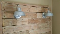 GIANT Pallet Headboard With Lights - Just $60!