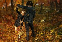 SL: Dancing In The Leaves by CryssieCarver #secondlife #fall #autumn