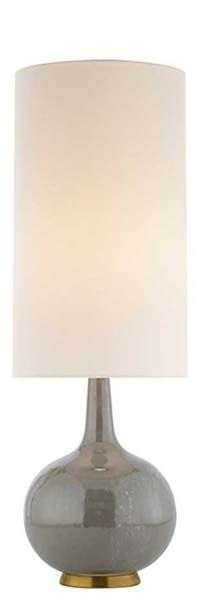 """Height: 25 1/4"""" Width: 8 1/2"""" Base: 4"""" Round HUNLEN TABLE LAMP"""