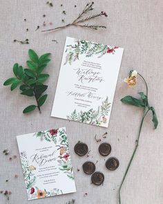 If you have multiple events on the weekend of your wedding, you can either send separate invitations for each event, include all of the… Floral Invitation, Invitations, Emily Rose, Go Green, Separate, Place Card Holders, Events, Canning, Wedding