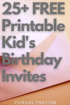 Needing a free birthday party invitation for an upcoming birthday party? I have you covered with printable birthday invitations free! Choose from a 29 totally free printable designs for your kids birthday party. Your kid will be sure to love one of our birthday invites for kids free printable. Peacock Birthday Party, Pink And Gold Birthday Party, Birthday Party At Home, Kids Birthday Party Invitations, Free Birthday, Free Printable Party Invitations, Christmas Gift Tags Printable, Diy Party Supplies, Valentine's Cards For Kids
