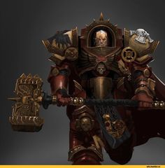 Chapter Master Gabriel Angelos of the Blood Ravens. Warhammer 40k Art, Warhammer 40k Miniatures, Warhammer Fantasy, Marine Costume, Grey Knights, Starcraft, Space Marine, Marvel, Medieval