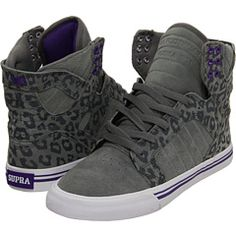 Grey leopard high tops. Doing the animal print thing but not limited to what you can wear them with.