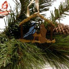 Handmade Christmas Nativity scene ornament Xmas Nativity scene decor