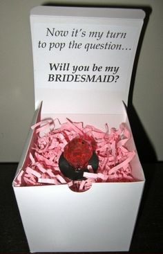 well I already popped the question to my girls, but purple ring pops would be a perfect bridal shower guest gift