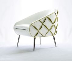#Modern muse, our Dali chair with eye-catching crisscross leather petals hits all the right #design notes. #NAfurniture