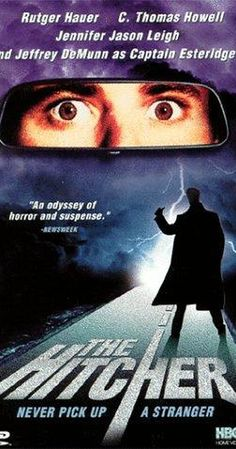 The Hitcher – freaky scary adventure with Rutger Hauer! I'm not even bothering to watch the remake, it could never be as good without him. Blockbuster Movies, 80s Movies, Scary Movies, Great Movies, Movies To Watch, Movie Tv, Throwback Movies, Action Movies, Horror Movie Posters