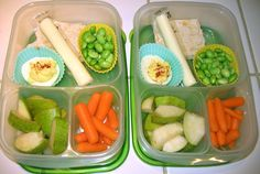 In your lunch box: Wasa crackers under the string cheese for a little crunch to. Protein, veggies and fruit. A very balanced meal :)