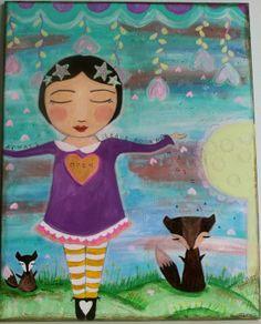 """Open to Magic"" painting by CreatingFreeSpirit via Etsy"