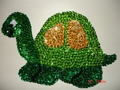 Turtle Magnet Animal Magnet Glass Beaded by Crystalscraftycorner, $20.00