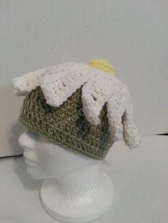 One Giant Daisy Beanie Hat Crochet Pattern - free crochet hat pattern from cRAfterChick.com