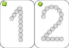 les chiffres en perle de verre