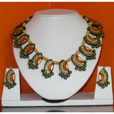 Online Shopping for Terracotta Jewellery | Jewellery Sets | Unique Indian Products by Vandana Arts - MVAND80340500580