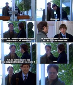 The Office!!! A fucking amazing show! I love Jim and Pam's pranks and Jim and Dwight's relationship is awesome