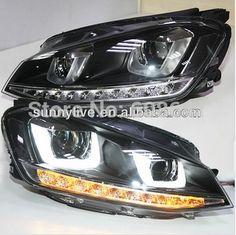 373.80$  Watch here - http://ali9qe.shopchina.info/1/go.php?t=1852666080 - For VW Golf 7 LED Head light TLZ 2013-2014  #aliexpress