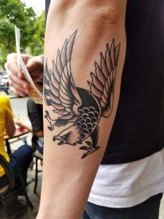 Traditional Blackwork Eagle