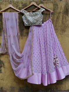 Dress Indian Style, Indian Fashion Dresses, Indian Designer Outfits, Designer Dresses, Designer Lehanga, Half Saree Designs, Lehenga Designs, Blouse Designs, Indian Lehenga