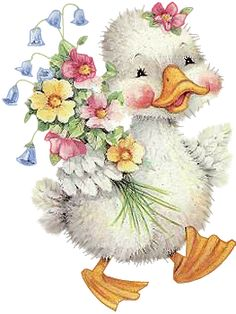 Waddling little duckling, chuckling with a blush...where are you off to with a bouquet, today, and why all the rush? Rebecca Jones