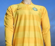 Celtic F.C. Hooped Goalkeeper Shirt 40th Anniversary 2007-2008 Champions League Player Issue