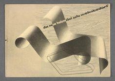 Leaflet »wohnbedarf. das neue holzmöbel aalto«, 1932. Design: Herbert Bayer