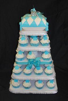 Tiffany Engagement Ring cake, great bridal shower cake.