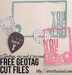 Free Geotags Silhouette Cut Files - from Traci Reed #Silhouette #CutFile
