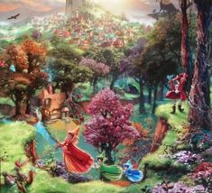 thomas kinkade disney - Google Search