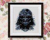 BOGO FREE! Darth Vader, Star Wars Cross Stitch Pattern, Dark Side Cross Stitch Pattern, Starwars Cross Stitch Chart, Needlework #002-10