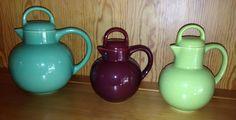 California Pottery 1930s-1940s Gladding McBean  various style guernsey jugs