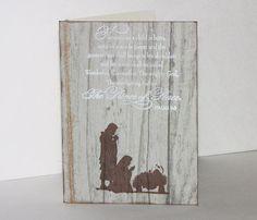 Handmade Christmas Nativity Card
