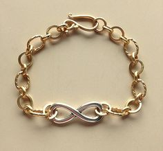 Infinity Bracelet Silver and Gold  Unisex by MAGICALUNIVERSE