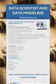 Data Scientist and Data Modeling Training. Please share! :)